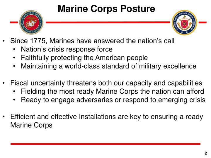 Marine Corps Posture