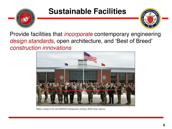Sustainable Facilities