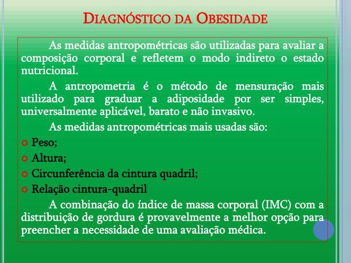 Diagnstico da Obesidade