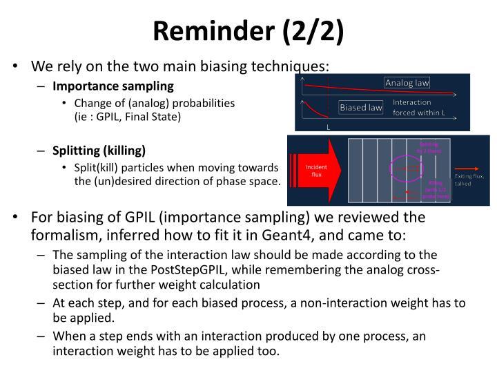 Reminder (2/2)
