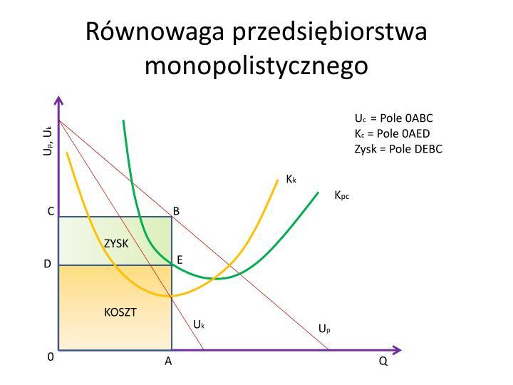 Równowaga przedsiębiorstwa monopolistycznego