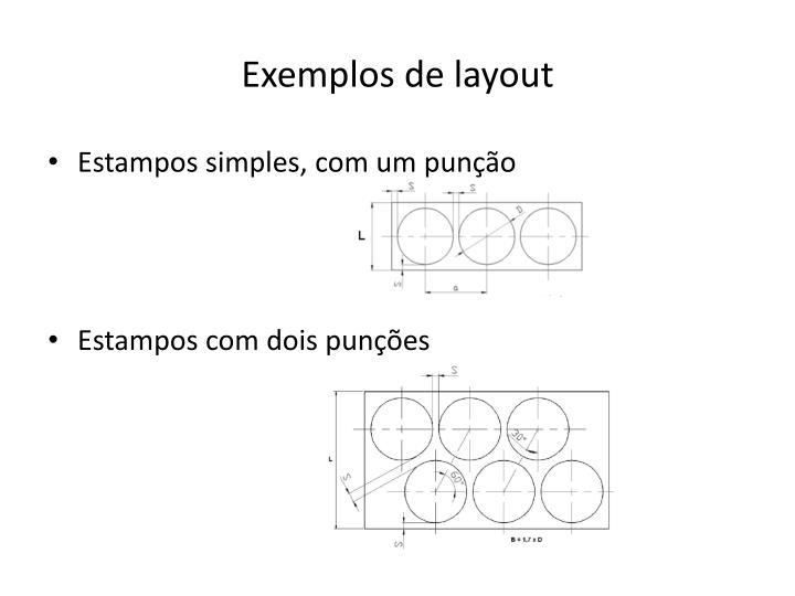 Exemplos de layout