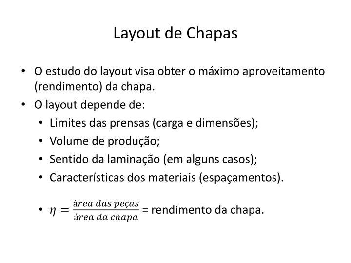 Layout de Chapas