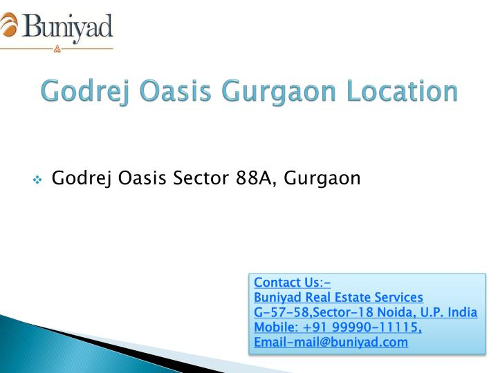 Godrej Oasis Gurgaon Location