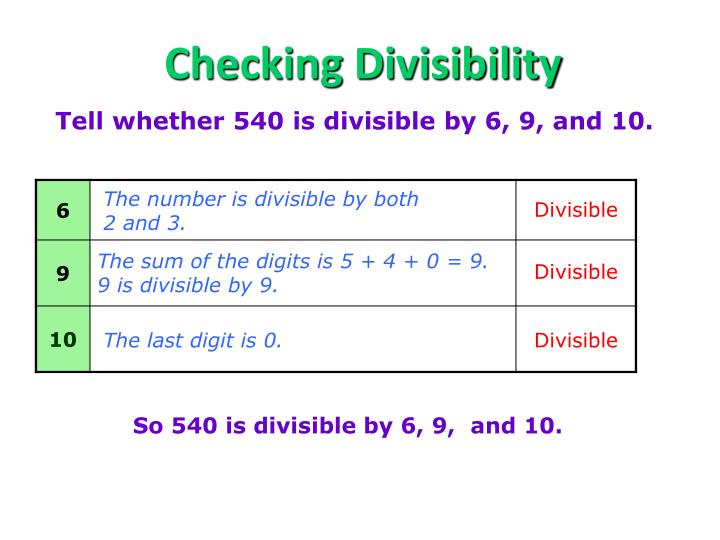 Checking Divisibility