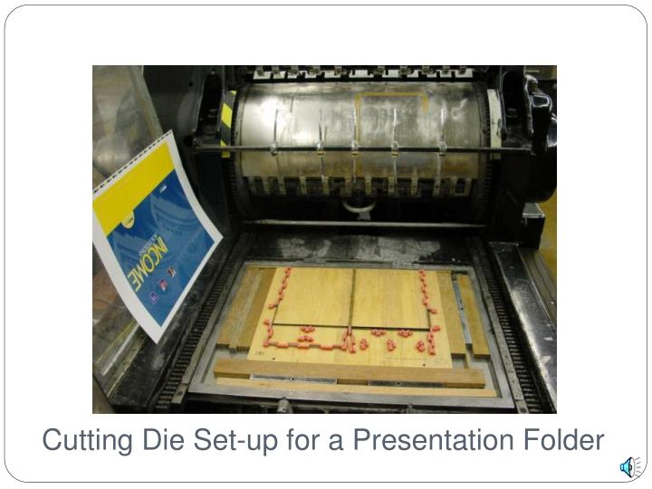 Cutting Die Set-up for a Presentation Folder