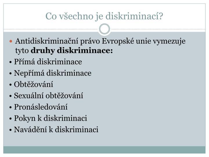 Co všechno je diskriminací?
