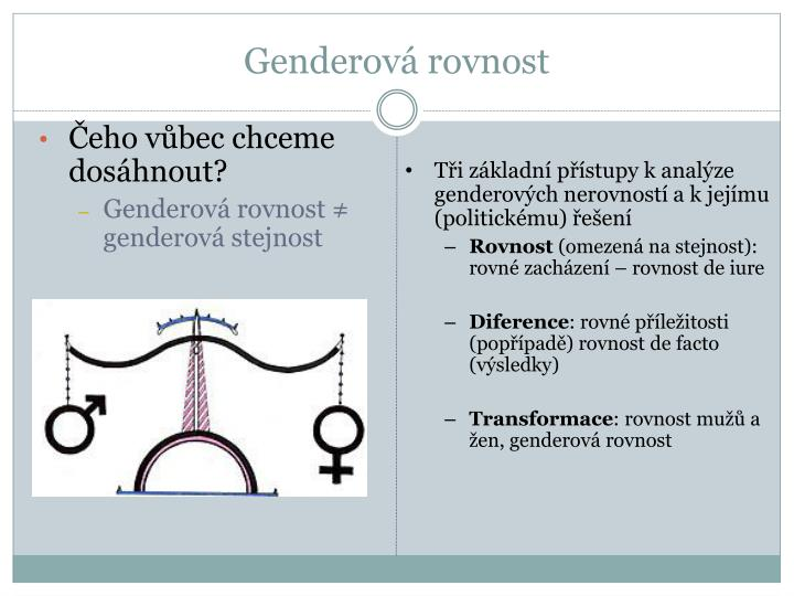Genderová rovnost