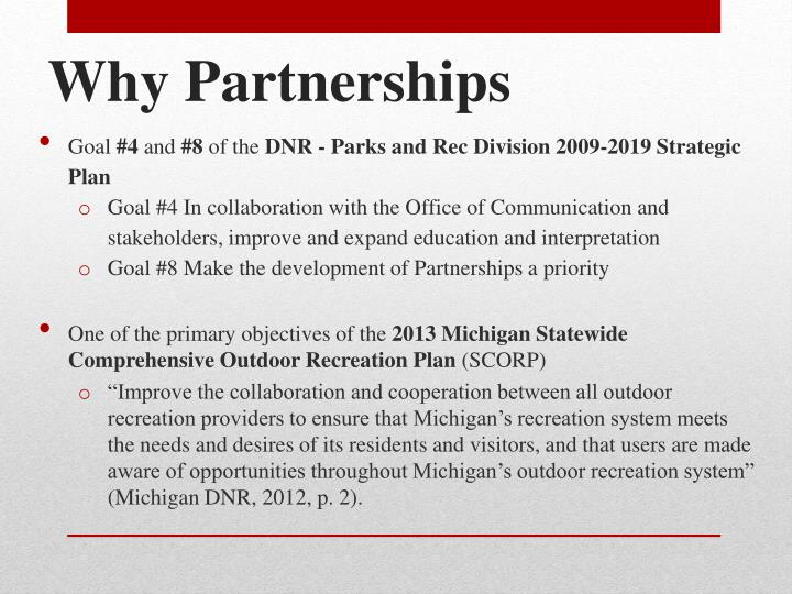 Why Partnerships