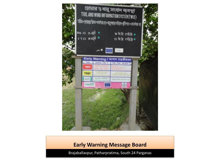 Early Warning Message Board