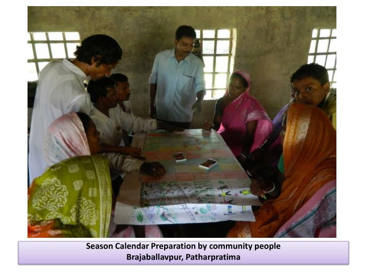Season Calendar Preparation by community people