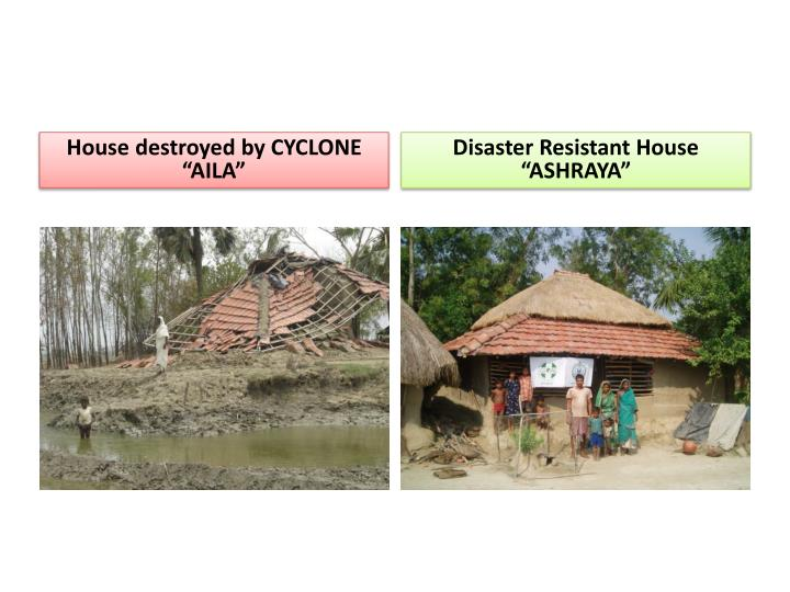 "House destroyed by CYCLONE ""AILA"""