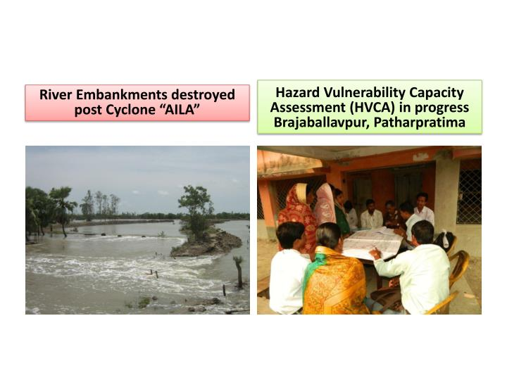 "River Embankments destroyed post Cyclone ""AILA"""