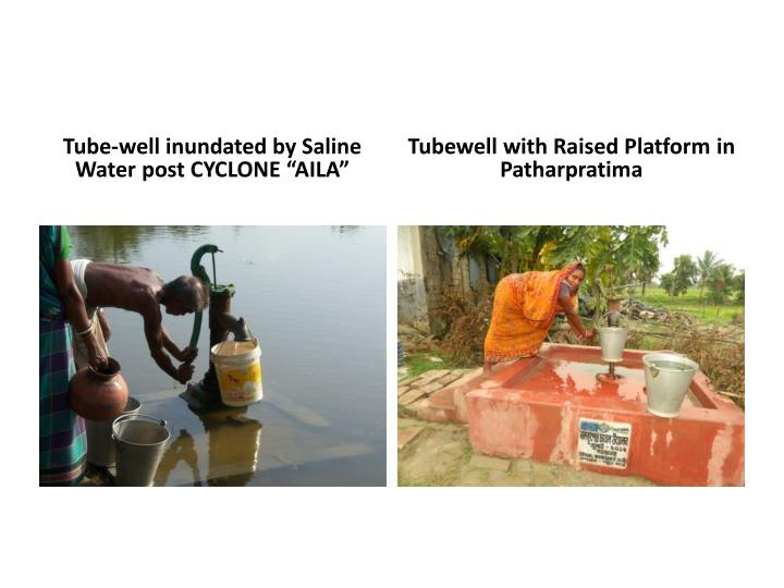 "Tube-well inundated by Saline Water post CYCLONE ""AILA"""