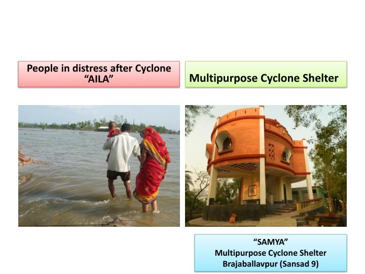 "People in distress after Cyclone ""AILA"""