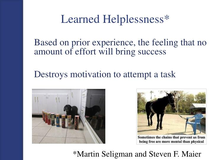 Learned Helplessness*