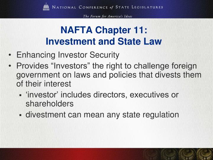 NAFTA Chapter 11:
