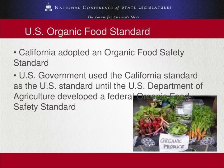 U.S. Organic Food Standard