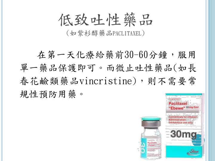 低致吐性藥品