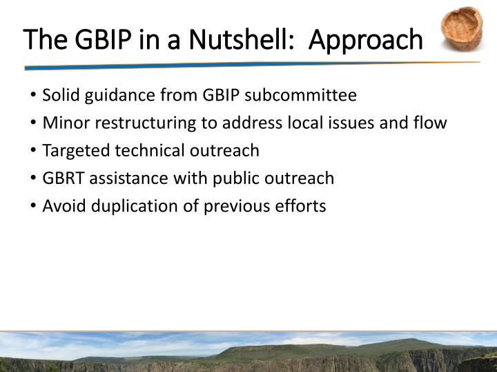 The GBIP in a Nutshell:  Approach