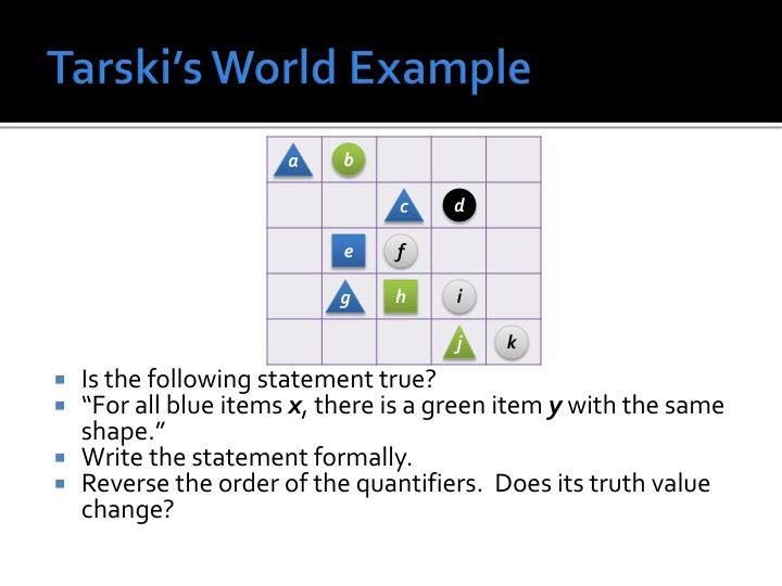 Tarski's