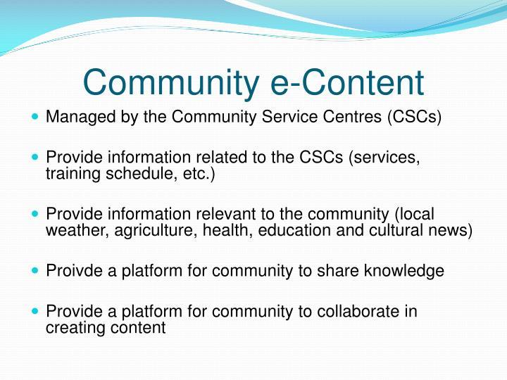 Community e-Content