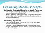 evaluating mobile concepts1