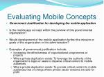evaluating mobile concepts5