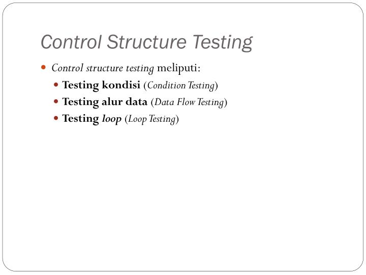Control Structure Testing