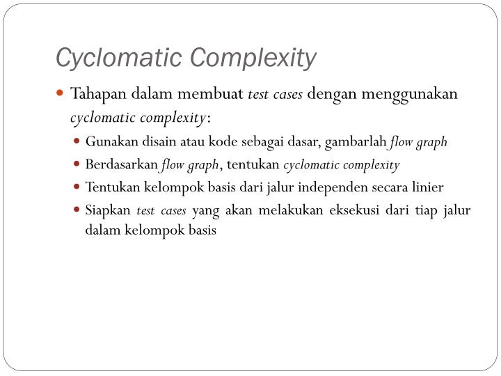 Cyclomatic