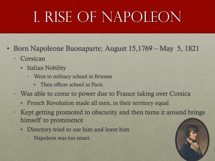 I. Rise of Napoleon