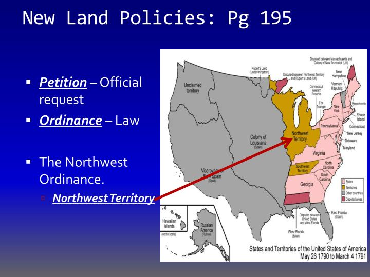 New Land Policies: Pg 195