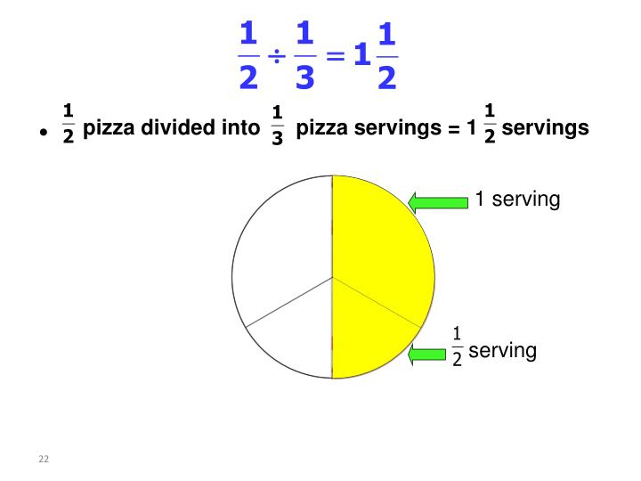 pizza divided into      pizza servings = 1    servings