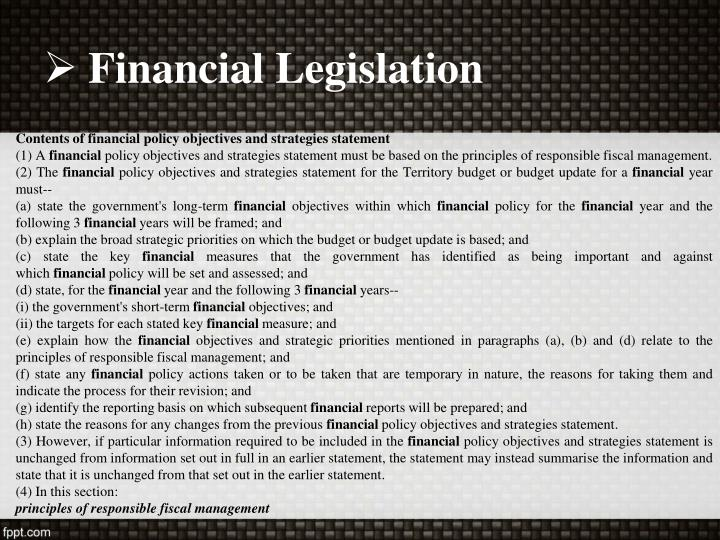 Financial Legislation