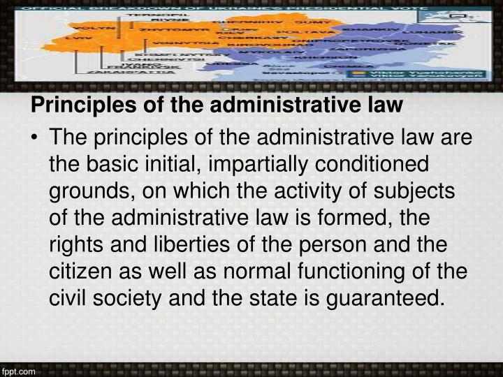 Principles of the administrative law