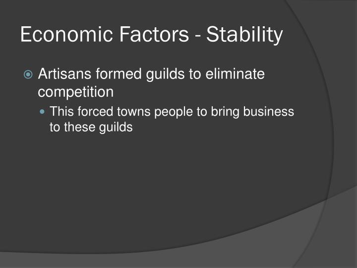 Economic Factors - Stability