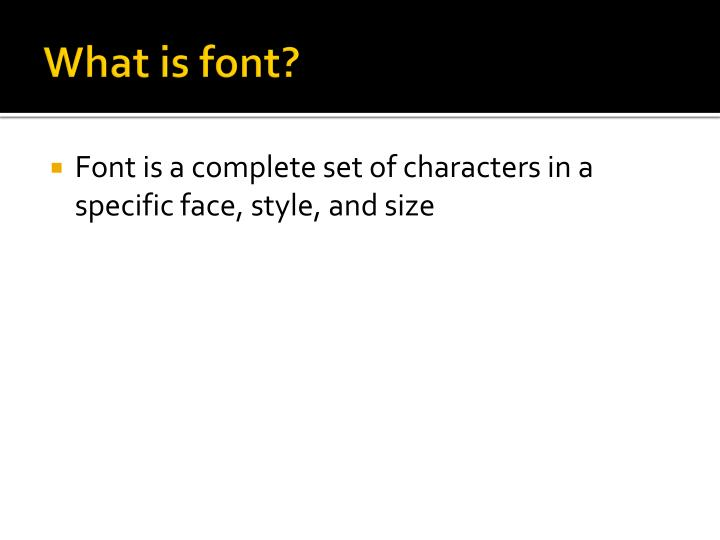What is font