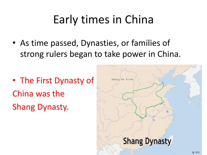 Early times in china