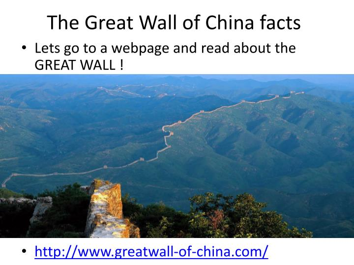 The Great Wall of China facts