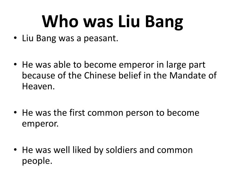Who was Liu Bang