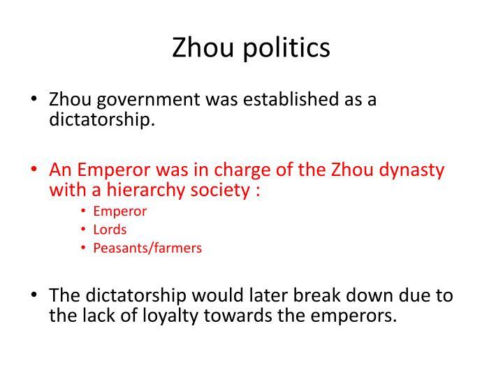 Zhou politics