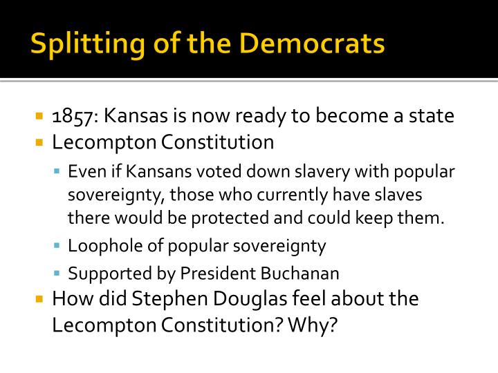 Splitting of the Democrats