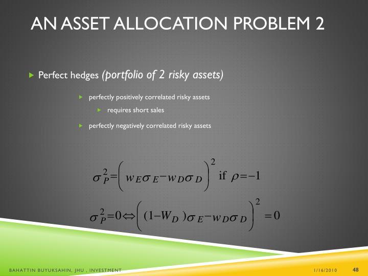 An Asset Allocation