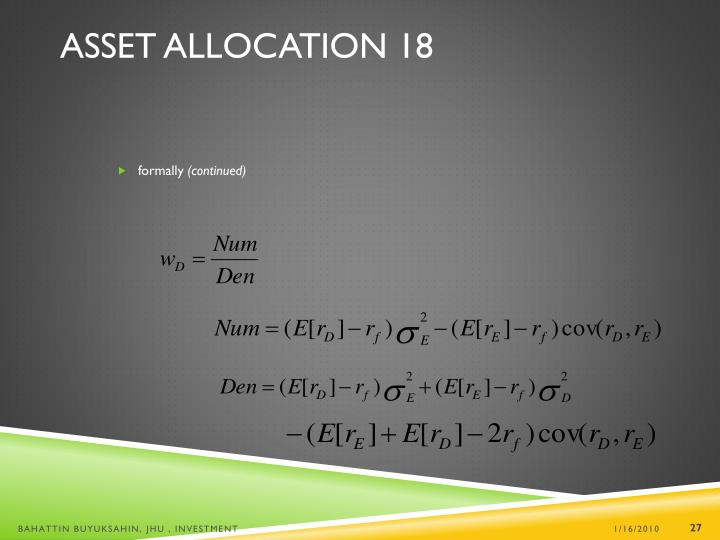 Asset Allocation 18