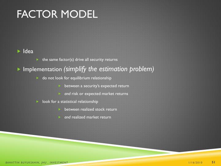 Factor Model