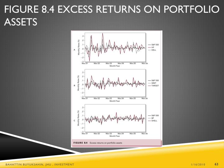 Figure 8.4 Excess Returns on Portfolio Assets
