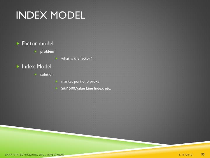 Index Model