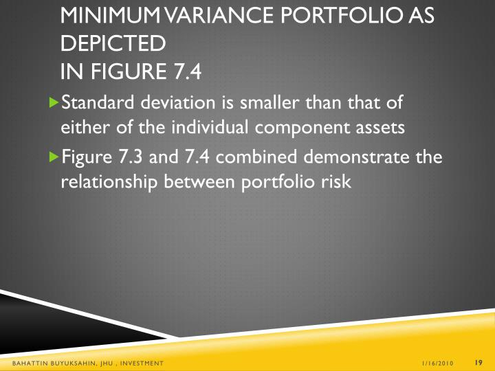 Minimum Variance Portfolio as Depicted