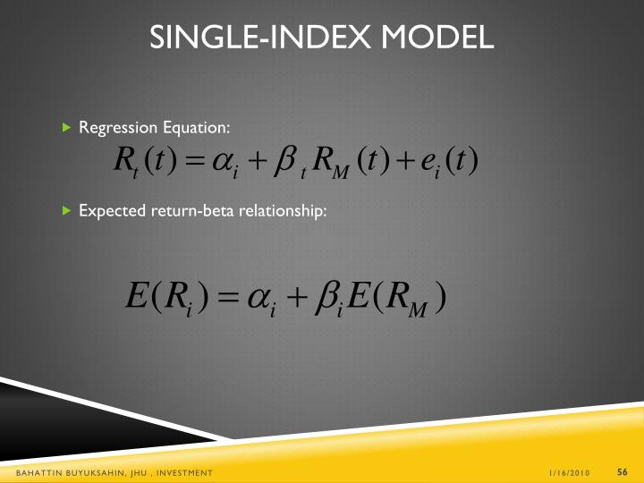 Single-Index Model