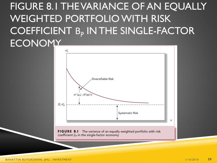 Figure 8.1 The Variance of an Equally Weighted Portfolio with Risk Coefficient